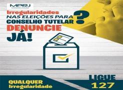 MPRJ disponibiliza número de telefone para denúncias sobre irregularidades nas eleições do Conselho Tutelar