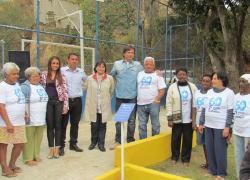Inauguração da academia da terceira idade do bairro Boa Sorte é comemorada por moradores.