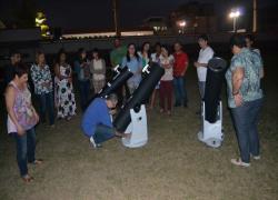 Observando as estrelas no IV Encontro Astronômico de Educadores de Barra do Piraí