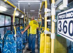 Demutran e Guarda Municipal fazem fiscalização em linhas de ônibus municipais