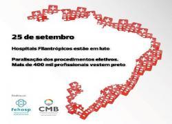 Protestos das Santas Casas agendados para o dia 25 de setembro em todo país