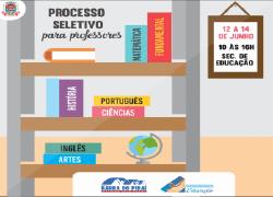 Secretaria de Educação abre processo seletivo para contratação temporária de 12 professores