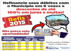 Refinancie seus débitos com o Município em 6 vezes e descontos de até 100% em juros e multas