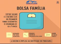 Beneficiários do Bolsa Família tem até sexta para se cadastrar