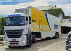 Duas carretas da Fecomércio chegam a Barra do Piraí